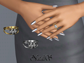 Sims 3 — NataliS TS3 Baguette crystals engagement  ring  by Natalis — Baguette crystals engagement ring for left hand.