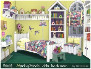 Kids Bedroom U0027Spring Birdsu0027