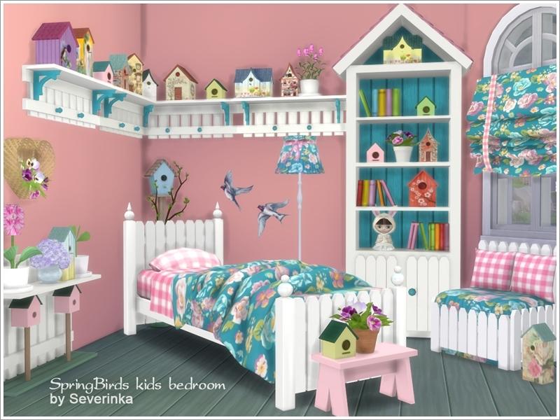 severinka s kids bedroom spring birds rh thesimsresource com
