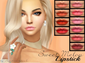 Sims 4 — Sweet Melon Lipstick by Baarbiie-GiirL — new sweet and tasty lipstick for your sims ^,^! - works with all skins