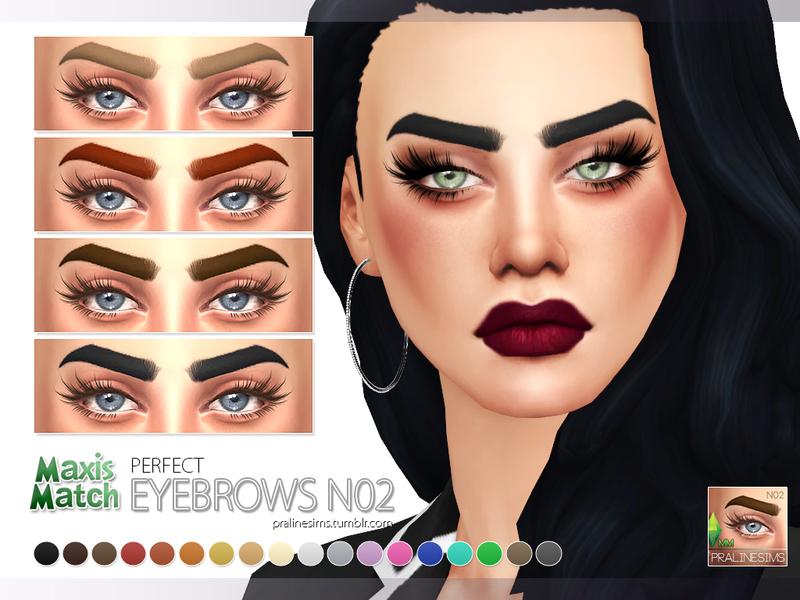 Pralinesims Maxis Match Eyebrow Pack N01