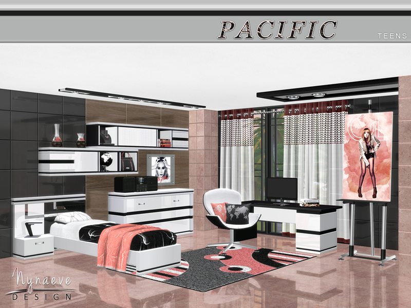 Nynaevedesign 39 s pacific heights teens for Sims 4 bedroom ideas