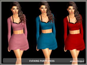 Sims 3 — Evening Party Dress by Serpentrogue — 3 variations Young adult/ adult female everyday wear/ formal has