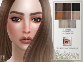 Sims 4 — [ Katrina ] - Female Brows by Screaming_Mustard — More female brows, with a high arch and well groomed. For
