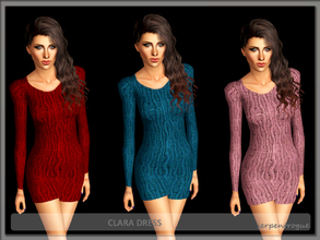 Sims 3 — Clara Dress by Serpentrogue — 4 variations Young adult/ adult female everyday wear/ outwear Mesh by me has