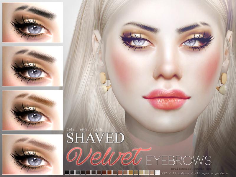 Pralinesims' Velvet Eyebrows N92 Shaved