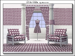 Sims 3 — At the Helm_marcorse by marcorse — Geometric pattern: ship's rudder design, regularly repeated in light purple