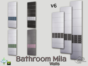 Sims 4 — Mila Bath Tile Walls v6 by BuffSumm — Part of the *Bathroom Wall Tile Mila*