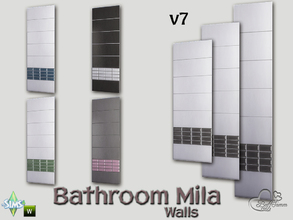 Sims 4 — Mila Bath Tile Walls v7 by BuffSumm — Part of the *Bathroom Wall Tile Mila*