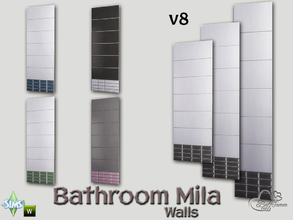 Sims 4 — Mila Bath Tile Walls v8 by BuffSumm — Part of the *Bathroom Wall Tile Mila*