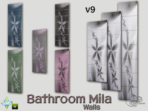 Sims 4 — Mila Bath Tile Walls v9 by BuffSumm — Part of the *Bathroom Wall Tile Mila*