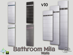 Sims 4 — Mila Bath Tile Walls v10 by BuffSumm — Part of the *Bathroom Wall Tile Mila*