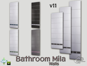 Sims 4 — Mila Bath Tile Walls v11 by BuffSumm — Part of the *Bathroom Wall Tile Mila*