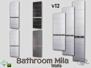 Sims 4 — Mila Bath Tile Walls v12 by BuffSumm — Part of the *Bathroom Wall Tile Mila*