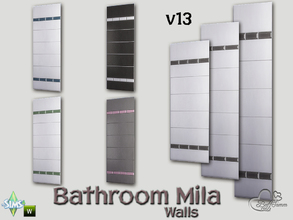 Sims 4 — Mila Bath Tile Walls v13 by BuffSumm — Part of the *Bathroom Wall Tile Mila*