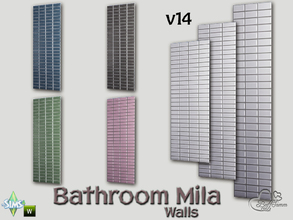 Sims 4 — Mila Bath Tile Walls v14 by BuffSumm — Part of the *Bathroom Wall Tile Mila*