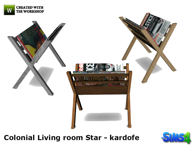 Kardofe_Colonial Living Room Star_Magazine Rack