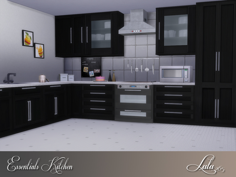 Lulu265 39 s essentials kitchen for Cc kitchen cabinets
