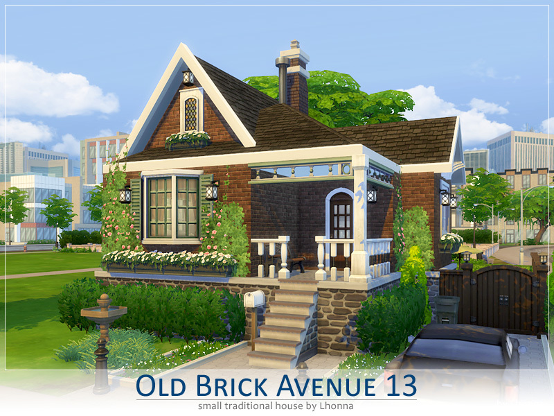 Lhonna 39 s old brick avenue 13 for Classic house sims 4