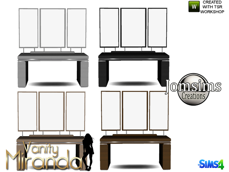 Jomsims Miranda Vanity Mirror Table