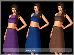 Sims 3 — Chicnova by Serpentrogue — 4variations Young adult/ adult female everyday