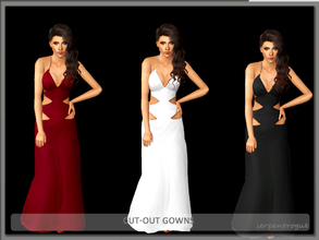Sims 3 — Cut-Out Gowns by Serpentrogue — 3 variations Young adult/ adult female formal Mesh by me has thumbnails