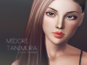 Sims 3 — Midori Tanimura by Pralinesims — Midori Tanimura is another one of our older models (previously available at our