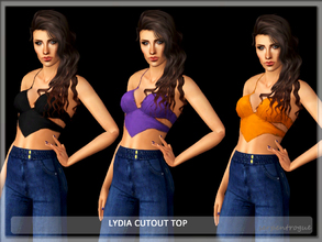 Sims 3 — Lydia Cutout Top by Serpentrogue — 3variations Young adult/ adult female everyday /athletic wear has thumbnails
