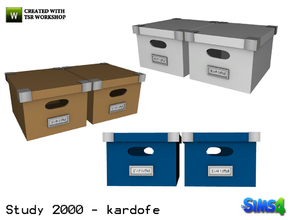 Sims 4 — kardofe_Study 2000_Box of documents by kardofe — Practical and decorative cardboard boxes for storing documents