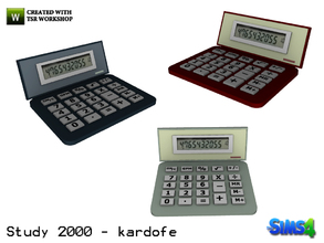 Sims 4 — kardofe_Study 2000_Calculator by kardofe — Calculator, only decorative, to create atmosphere, in three different