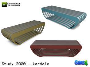 Sims 4 — kardofe_Study 2000_CoffeeTable by kardofe — Coffee table modern design in three different textures