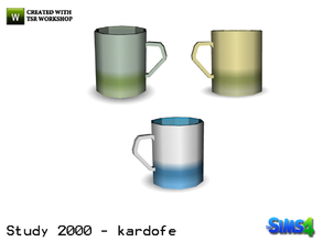 Sims 4 — kardofe_Study 2000_Cup by kardofe — Coffee cup, in three different colors