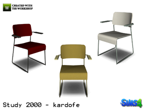 Sims 4 — kardofe_Study 2000_DiningChair by kardofe — Office chair, for customers, upholstered in leather in three