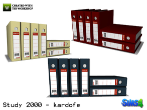 Sims 4 — kardofe_Study 2000_Folders by kardofe — File folders in three different textures