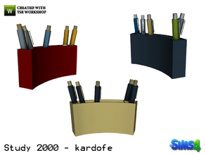 Sims 4 — kardofe_Study 2000_Pens by kardofe — Pot with many pens, in three different colors