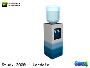 Sims 4 — kardofe_Study 2000_Water dispenser by kardofe — Fresh water dispenser, not go thirsty at work, decorative