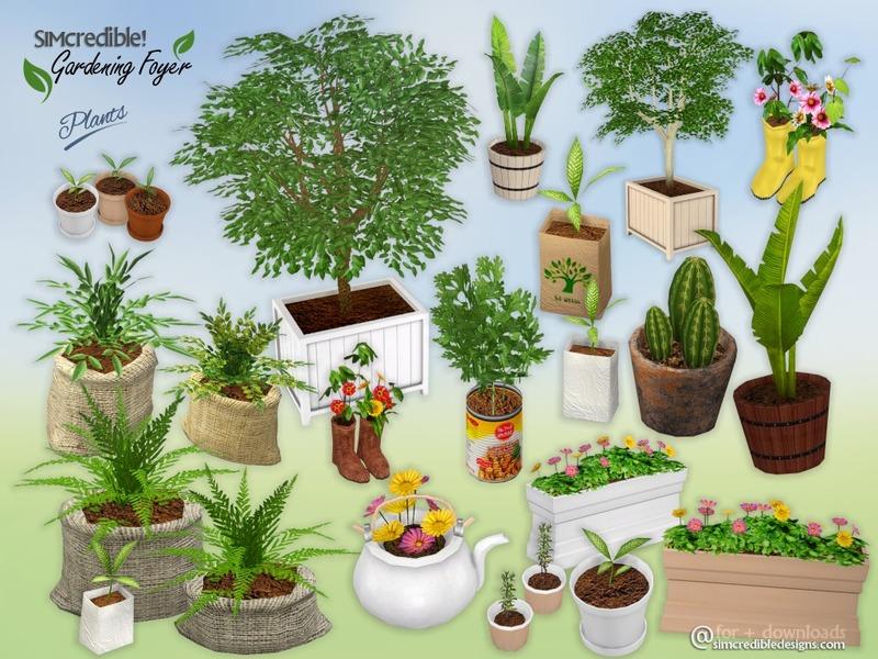 Simcredible 39 s gardening foyer plants for Indoor gardening sims 4
