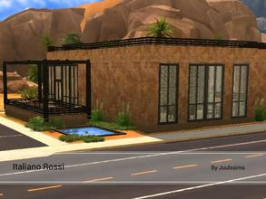Sims 4 — Italiano Rossi by Juulssims — Big italian restaurant. It has a modern/industrial look. The restaurant is named