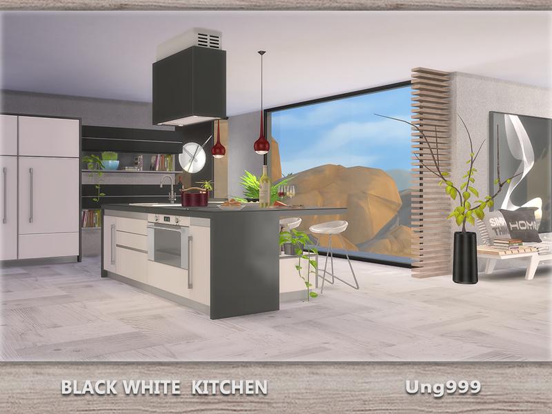 Ung999 S Black White Living: Ung999's Black White Kitchen