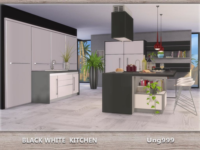 Ung999 s black white kitchen