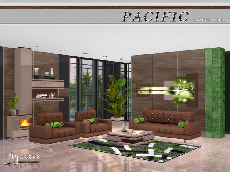 Nynaevedesign 39 s pacific heights living room for Living room ideas sims 3