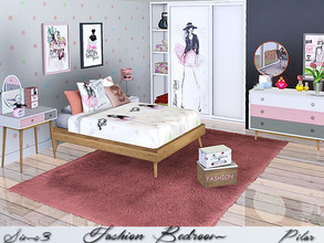 Sims 3 — Fashion Bedroom by Pilar — Modern bedroom with a touch of blush
