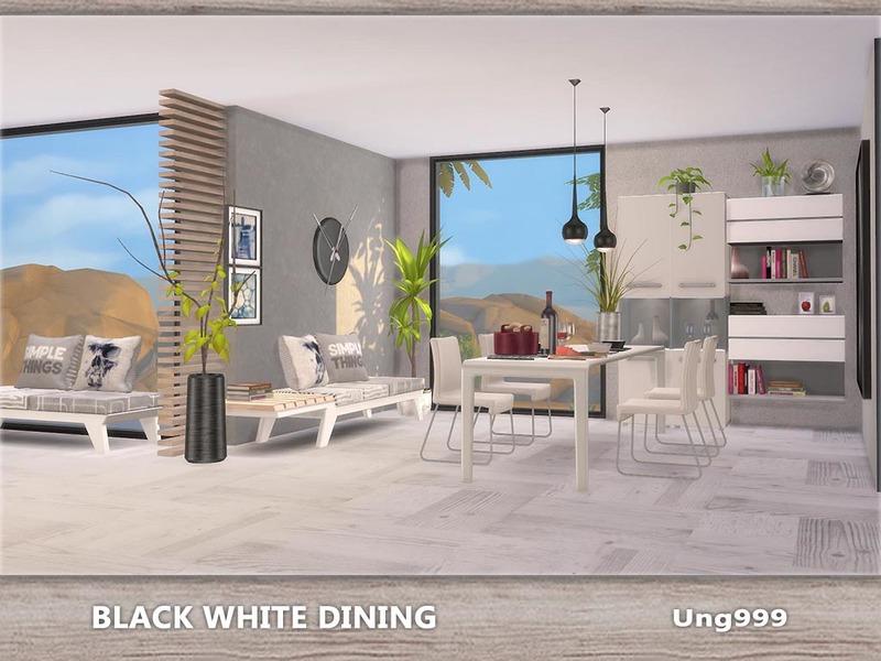 Ung999 S Black White Living: Ung999's Black White Dining