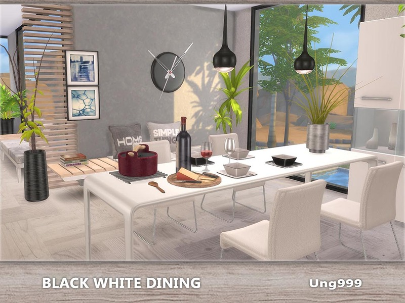 Ung999 S Black White Dining