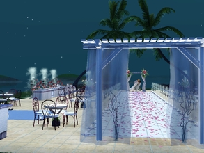 Sims 3 — Arielle's Beach Wedding Venue by catarina101 — This beautiful beach setting is the perfect place for your sims