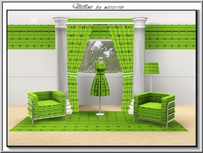 Sims 3 — Flatline_marcorse by marcorse — Geometric pattern: stripe and circle design in yellow and green
