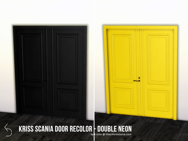 sc 1 st  The Sims Resource & k-omu\u0027s Kriss Scania Door - Traditional Double NEON