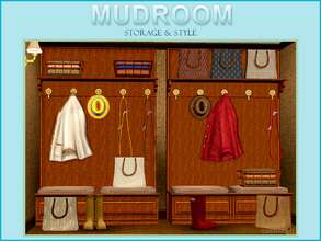 Sims 3 — Mudroom by Cashcraft — Leave your dirty boots at the door. Storage and style meet function with this traditional
