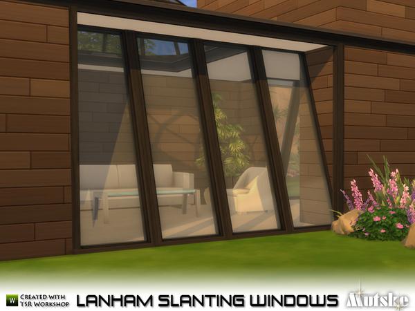 Los Sims4 Construcci 243 N Ventanas Inclinadas