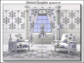 Sims 3 — Abstract Snowflake_marcorse by marcorse — Geometric pattern - abstract snowflake design in blue and purple on